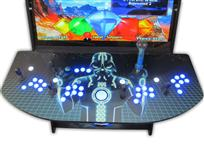 497 4 player, star wars, space, mame, lighted, blue buttons, tron joystick, spinner, led lights