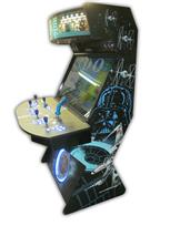 495 4 player, star wars, space, mame, lighted, blue buttons, tron joystick, spinner, led lights