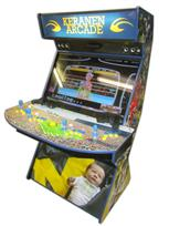 502 4-player, keranen, baby, michigan, sports, blue buttons, yellow buttons, yellow trackball