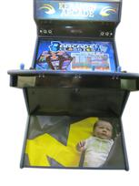 499 4-player, keranen, baby, michigan, sports, blue buttons, yellow buttons, yellow trackball