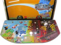 522 4-player, pennyland, mario, green buttons, blue buttons, white trackball, red trackball, yellow buttons