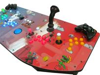 542 4-player, lighted, green buttons, blue buttons, mario, blue trackball, red buttons, orange buttons, tron joystick, spinner