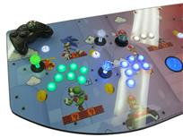 543 4-player, lighted, green buttons, blue buttons, mario, blue trackball, red buttons, orange buttons, tron joystick, spinner