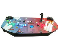 544 4-player, lighted, green buttons, blue buttons, mario, blue trackball, red buttons, orange buttons, tron joystick, spinner