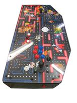 641 2-player, blue buttons, red buttons, white trackball, black trim, classics