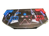 738 2-player, green buttons, red buttons, blue trackball, black trim, silver trim, star wars, darth vader