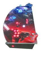 830 2-player, blue buttons, red buttons, lighted, blue trackball, silver trim, star wars,dark vs light