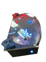832 2-player, blue buttons, red buttons, lighted, blue trackball, silver trim, star wars, dark vs light